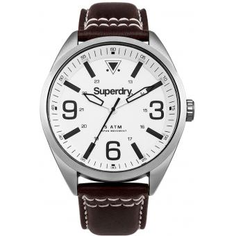 Montre Superdry Military SYG199TS - Montre Cuir Marron Homme