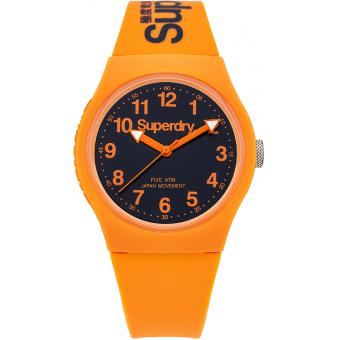 Montre Superdry SYG164O - Montre Ronde Orange Mixte