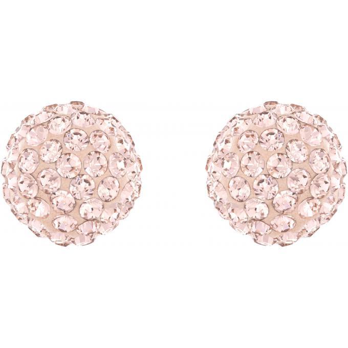boucles d 39 oreilles swarovski 5117726 boucles d 39 oreilles cristaux or rose sur bijourama. Black Bedroom Furniture Sets. Home Design Ideas