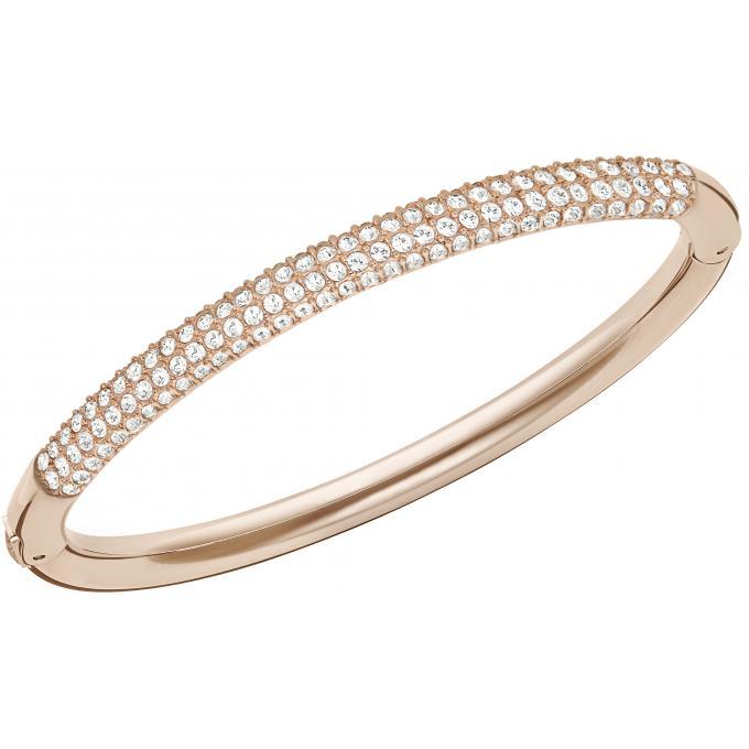Bracelet Or Rose Rigide , Swarovski