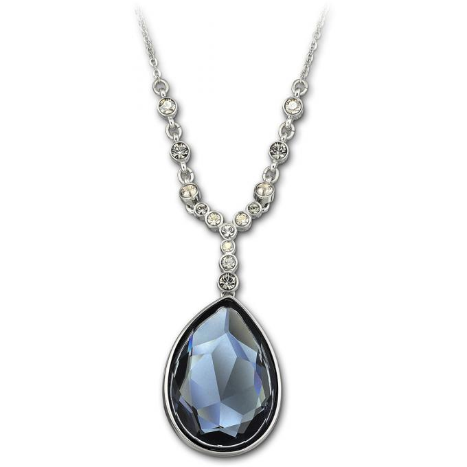 Collier et pendentif Swarovski 1062666 , Collier et pendentif Cristal Bleu Femme. Bijoux Femme