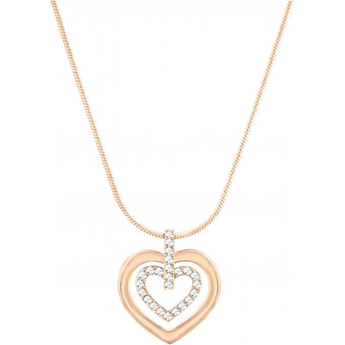 collier et pendentif swarovski 5127999 collier et pendentif coeurs or rose femme sur bijourama. Black Bedroom Furniture Sets. Home Design Ideas