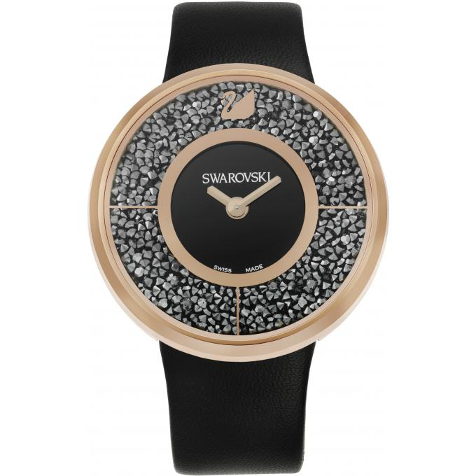 montre swarovski 5045371 montre ronde noire femme sur bijourama montre femme pas cher en ligne. Black Bedroom Furniture Sets. Home Design Ideas