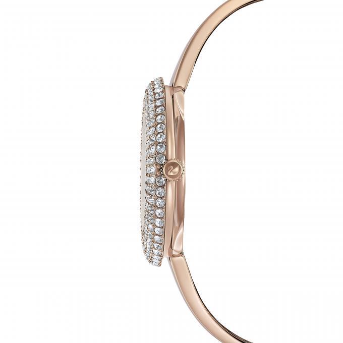 Sertie Femme D'infos Jonc Bracelet Rose Micro Montre Swarovski Pavé 5484073 Acier Plus Doré Lunette En Crystal yYf7v6gb
