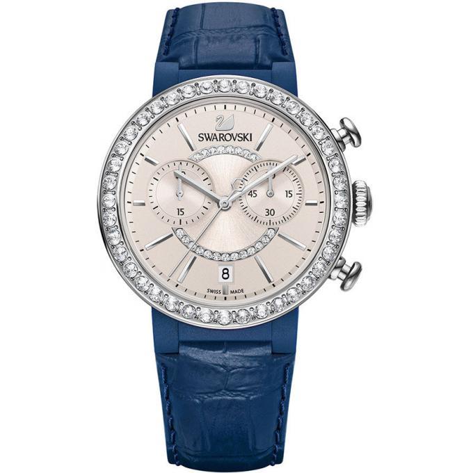 montre swarovski citra sphere chrono 5210208 montre chronographe bleue femme sur bijourama. Black Bedroom Furniture Sets. Home Design Ideas