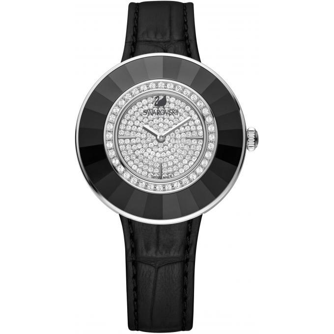 montre swarovski octea 5080506 montre noire ronde femme sur bijourama montre femme pas cher. Black Bedroom Furniture Sets. Home Design Ideas