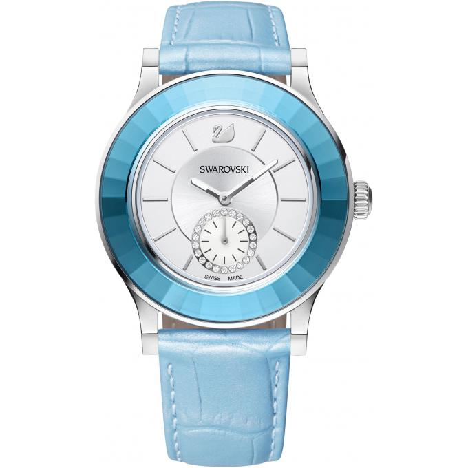 Bleue Swarovski Octea D'infos 5131874 Plus Cuir Femme Montre 3RLq4j5A