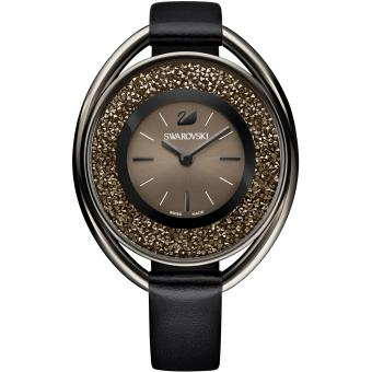 montre swarovski crystalline 5158517 montre ovale noire femme sur bijourama montre femme pas. Black Bedroom Furniture Sets. Home Design Ideas