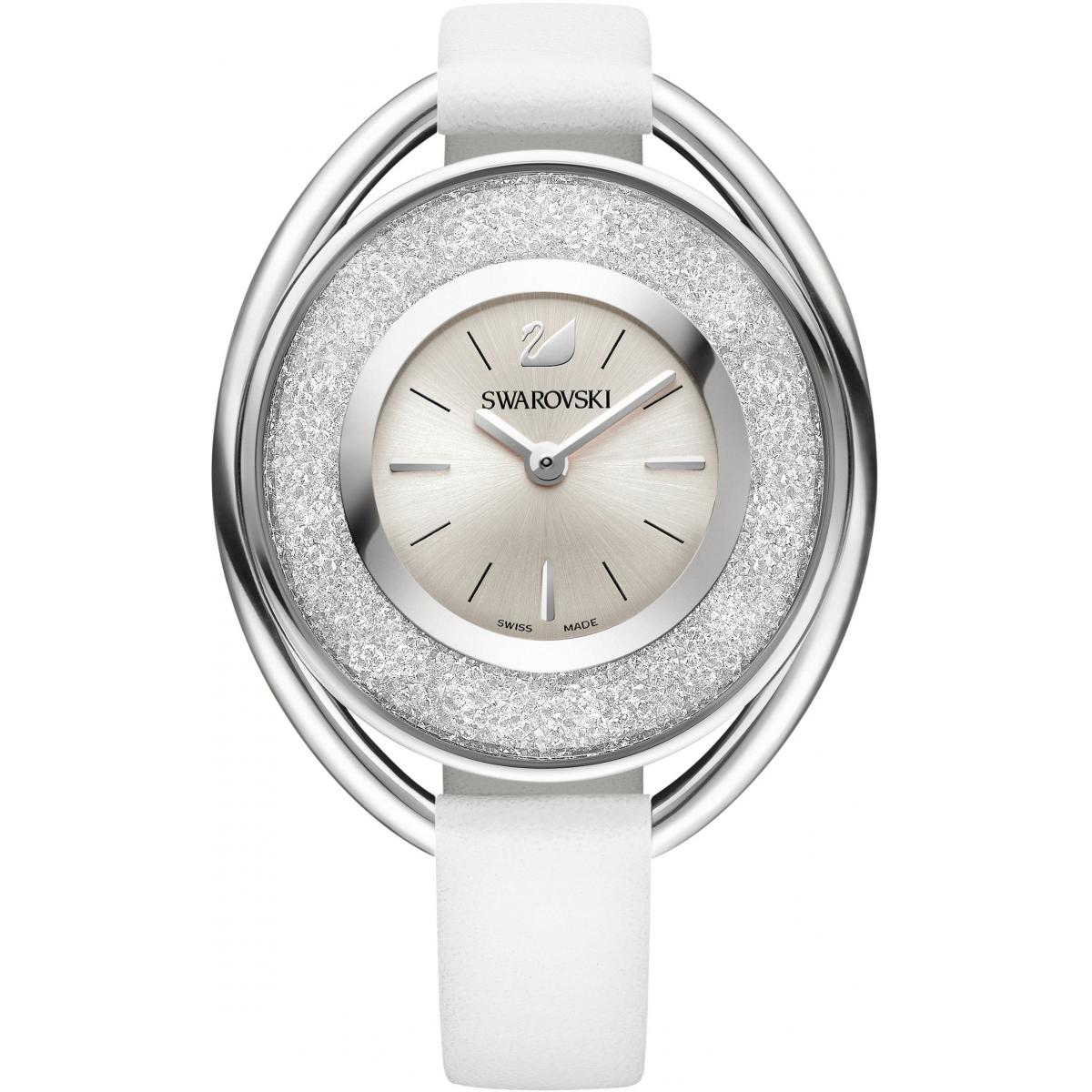 Montre Swarovski Crystalline 5158548 - Montre Ovale Argentée Femme