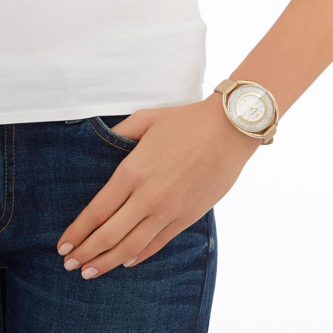 montre swarovski crystalline 5158972 montre ovale dor e femme sur bijourama montre femme pas. Black Bedroom Furniture Sets. Home Design Ideas
