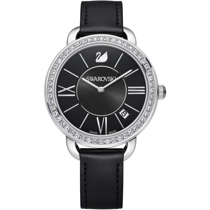 montre swarovski 5172151 montre argent e noire femme sur bijourama montre femme pas cher en. Black Bedroom Furniture Sets. Home Design Ideas