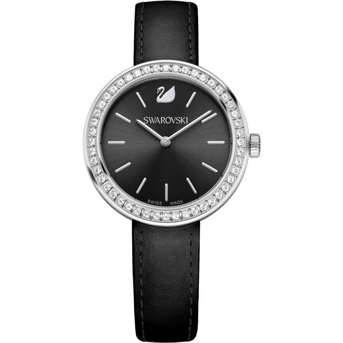 montre swarovski 5172176 montre noire argent e femme sur bijourama montre femme pas cher en. Black Bedroom Furniture Sets. Home Design Ideas