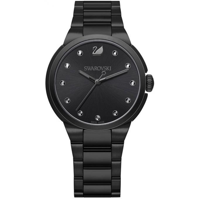 montre swarovski 5181626 montre acier noire femme sur bijourama montre femme pas cher en ligne. Black Bedroom Furniture Sets. Home Design Ideas