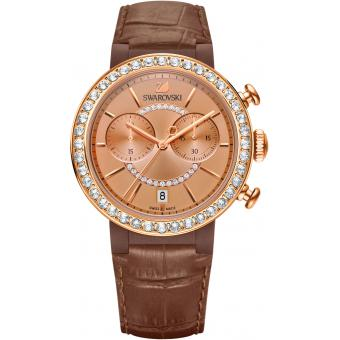 Montre Swarovski Citra Sphere 5183367 - Montre Marron Cristaux Femme