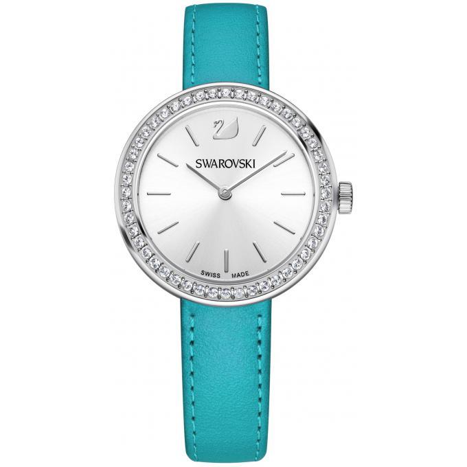 montre swarovski daytime 5187556 montre cuir bleu femme sur bijourama montre femme pas cher. Black Bedroom Furniture Sets. Home Design Ideas