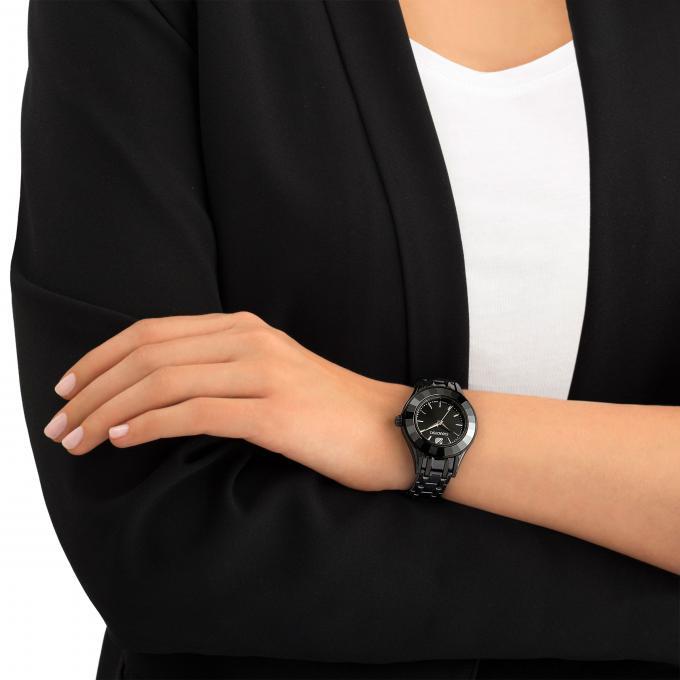 montre swarovski alegria 5188824 montre acier noire femme sur bijourama montre femme pas. Black Bedroom Furniture Sets. Home Design Ideas