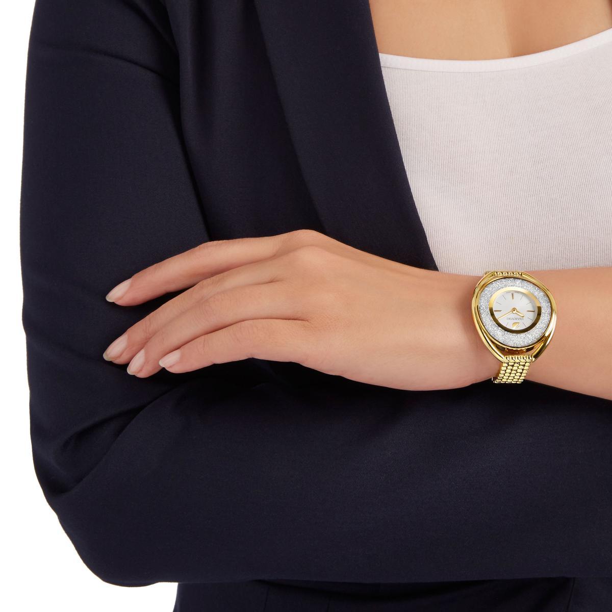 Montre Swarovski Crystalline 5200339 - Montre Ovale Dorée Femme