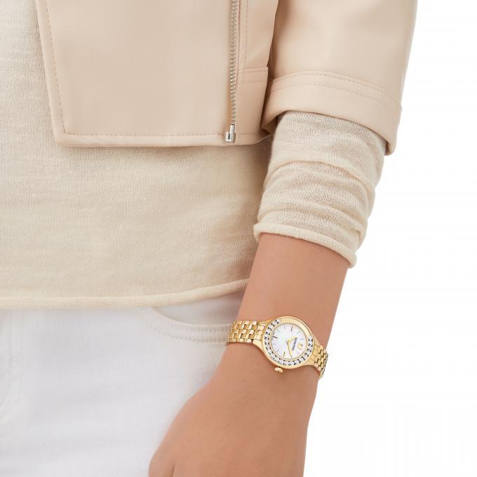 Montre Lovely Femme Acier Dorée Crystals Plus D'infos Swarovski Mini 5242895 VpUzSM