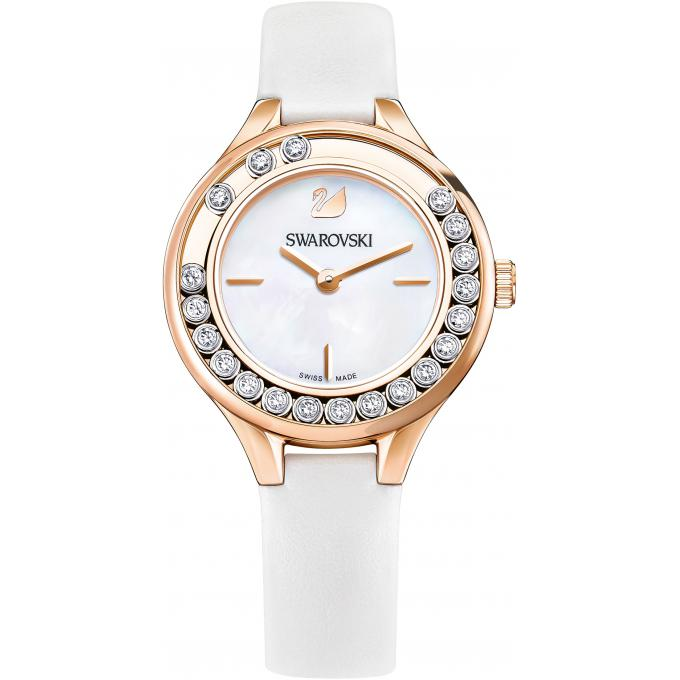 montre swarovski lovely crystals mini 5242904 montre cuir blanche femme sur bijourama montre. Black Bedroom Furniture Sets. Home Design Ideas