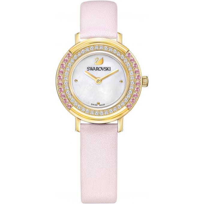 montre swarovski playful mini 5261462 montre cuir rose pastel femme sur bijourama montre. Black Bedroom Furniture Sets. Home Design Ideas