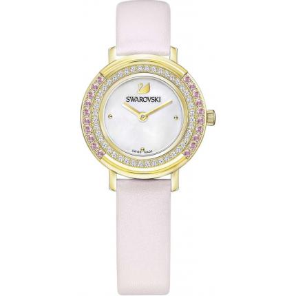 Montre Swarovski Playful Mini 5261462 - Montre Cuir Rose Pastel Femme