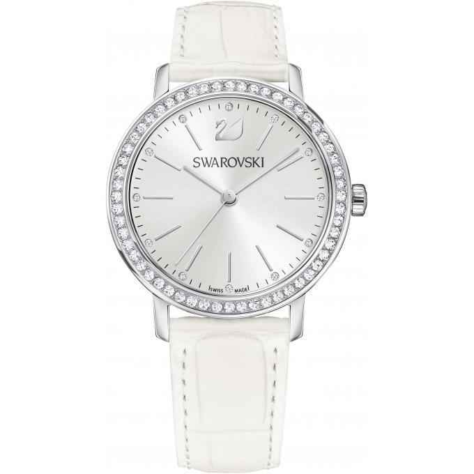 montre swarovski graceful lady 5261478 montre blanche cuir cristaux swarovski femme sur. Black Bedroom Furniture Sets. Home Design Ideas