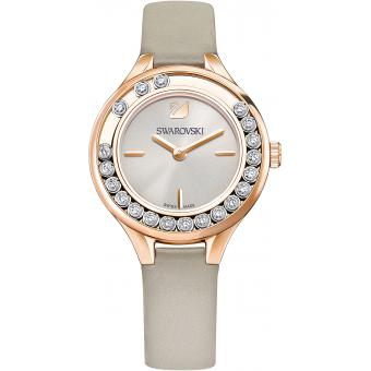 Montre Swarovski Lovely Crystals Mini 5261481 - Montre Beige Cuir Cristaux Swarovski Femme