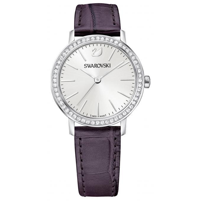 montre swarovski 5295323 montre cristaux cuir violet femme sur bijourama montre femme pas. Black Bedroom Furniture Sets. Home Design Ideas