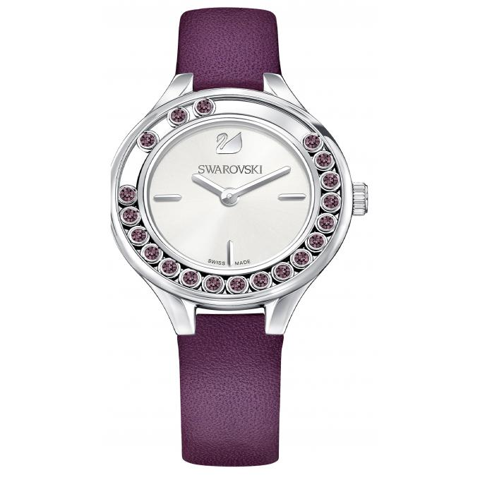 montre swarovski 5295331 montre cristaux cuir violet femme sur bijourama montre femme pas. Black Bedroom Furniture Sets. Home Design Ideas