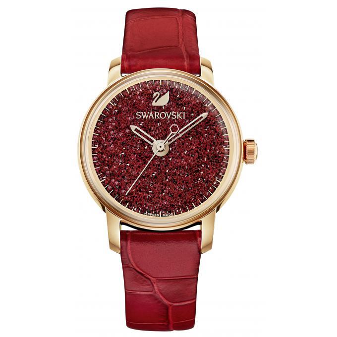 montre swarovski 5295380 montre cristaux cuir rouge femme sur bijourama montre femme pas. Black Bedroom Furniture Sets. Home Design Ideas