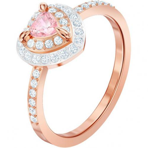 Swarovski Bijoux - Bague Swarovski ONE-RING-HEART-ROSEGOLD - Promotion Montre