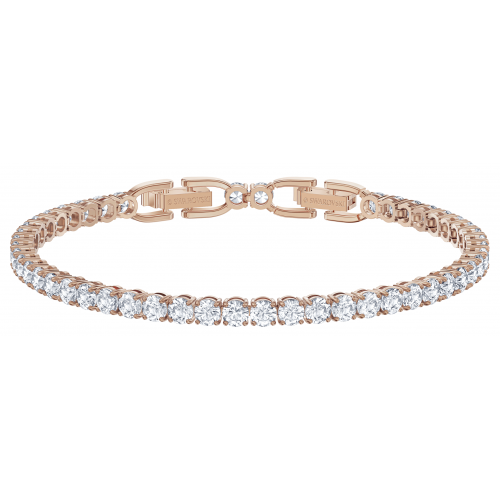 Bracelet Swarovski 5513400 - Tennis Deluxe Blanc Métal Doré Rose Homme