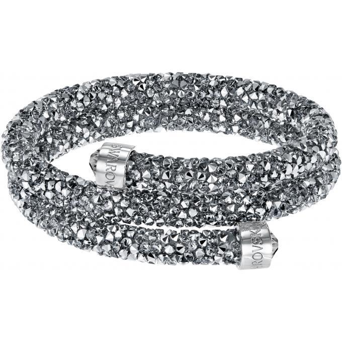 Swarovski D'infos Gris Crystaldust Jonc Double Bracelet 5255898 Plus 80wmNnOv