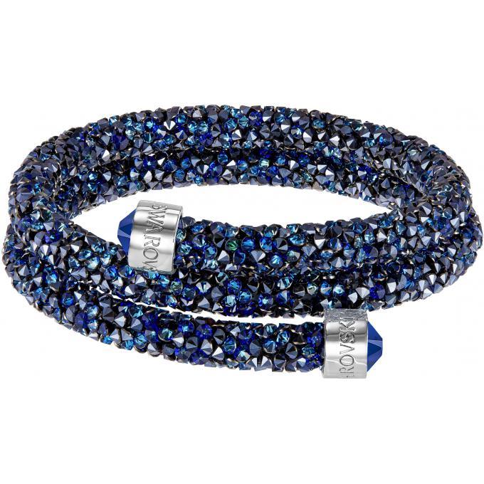 Exceptionnel Bracelet Swarovski Crystaldust 5255903 - Bracelet-jonc double bleu  CY41
