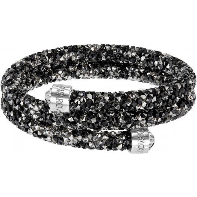 Bracelet Swarovski Crystaldust 5255909 , Bracelet,jonc double cristaux  sombres