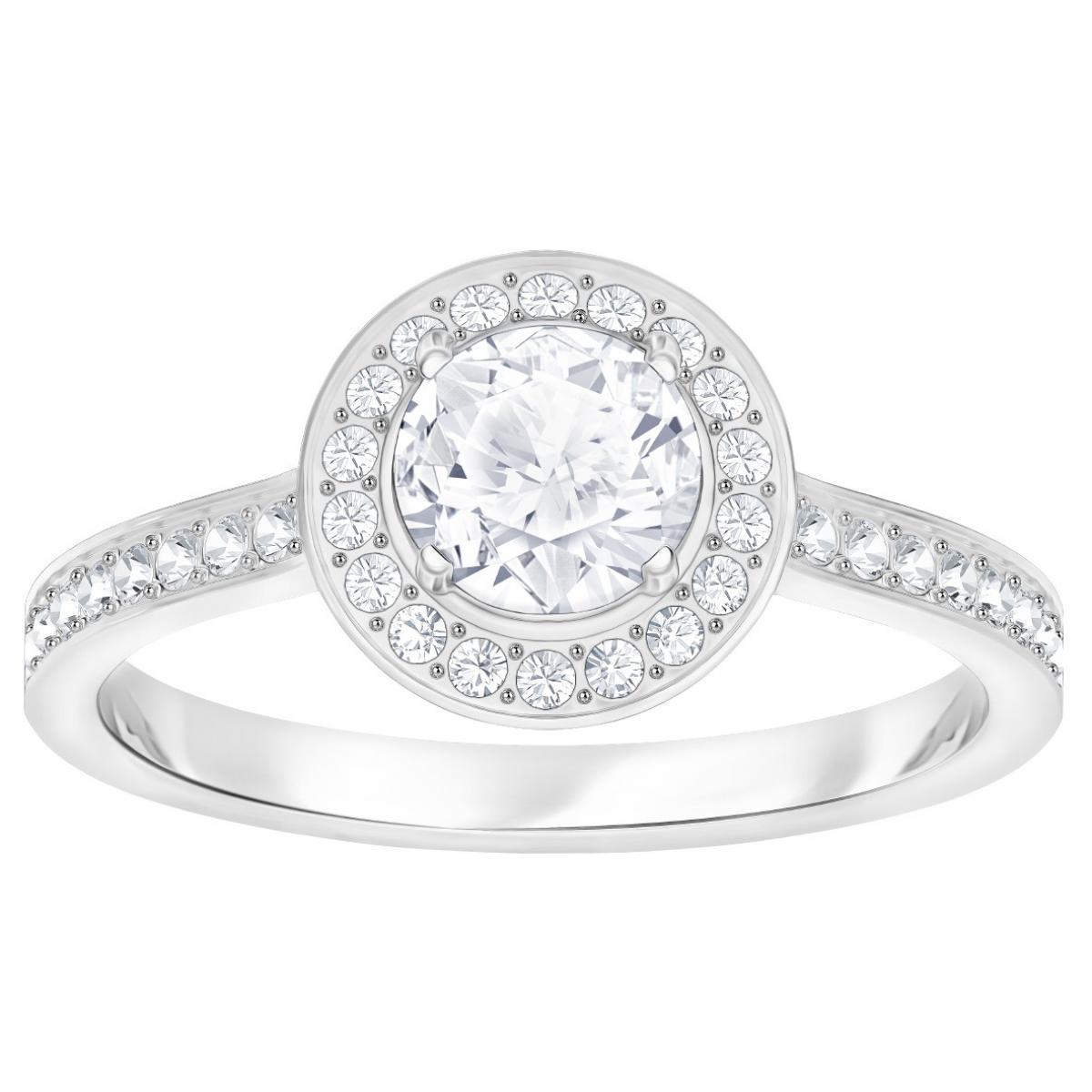 Bague Swarovski Attract Light Ring - Bague Acier Femme
