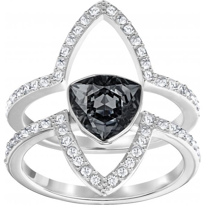 Bague Swarovski Classic Jewelry FANTASTIC,CRYSINI,RHS , Bague Noir Cristal  Femme
