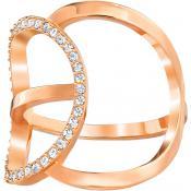 Bague Swarovski Modern Jewelry FLASH-CRY-ROS - Bague Tendance Doré Femme 29d448bf2a66