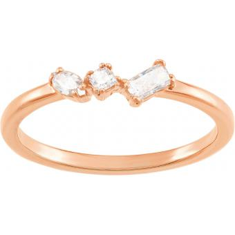 Bague Swarovski FRISSON:RING MIXED CUTS CZWH/ROS - Bague Cristaux Swarovski doré rose Femme