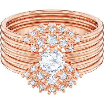 Swarovski Bijoux - Bague Swarovski MOONSUN-RING-ROSEGOLD - Promotion Montre