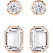 Boucles d'oreilles Swarovski Bijoux Dorées Blanc 5188423 - Or