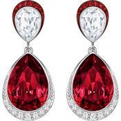 Boucles d'oreilles Swarovski Bijoux Bicolores Pendantes 5236076 - Rouge