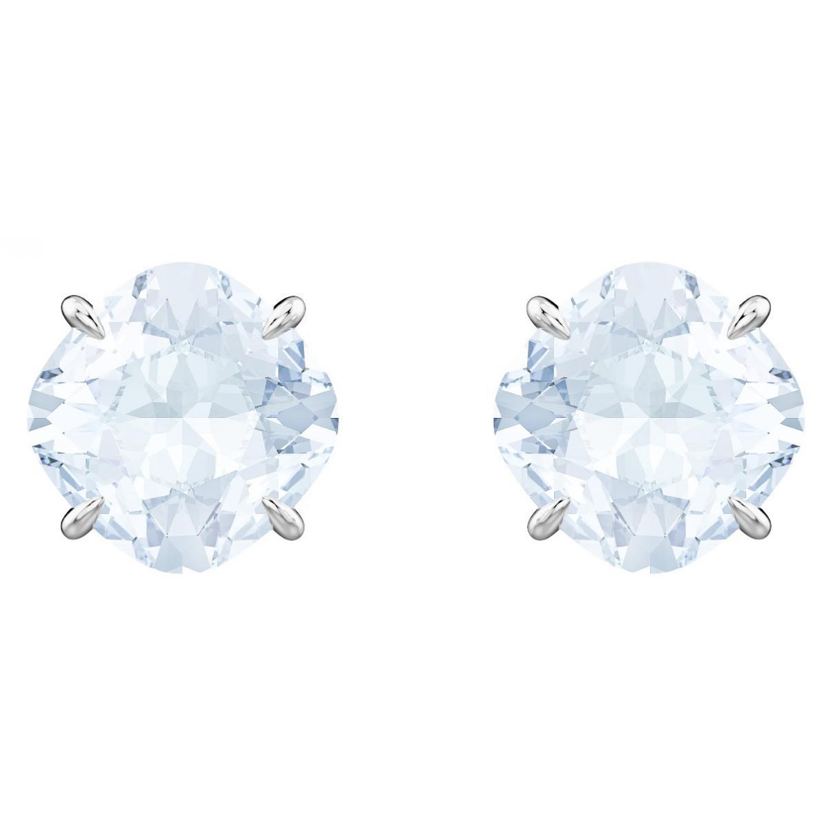 Boucles d'oreilles Swarovski Bijoux 5427950 - Acier Argenté Bleu Cristaux  Swarovski Femme