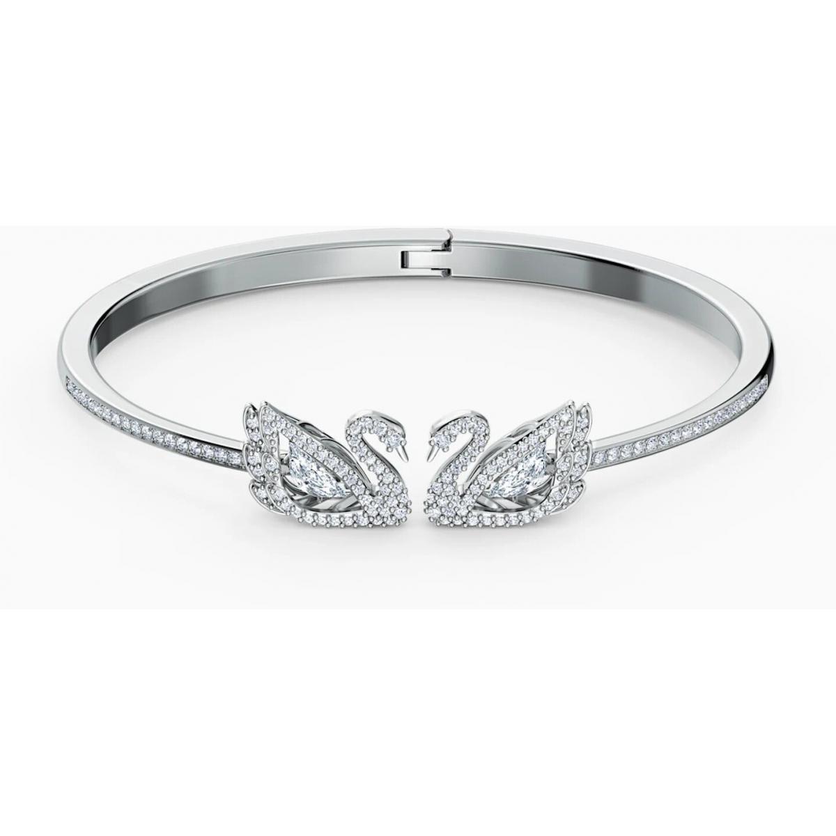BRACELET Swarovski 5520713 - Bracelet Métal Argenté Cygne Strass blanc Femme