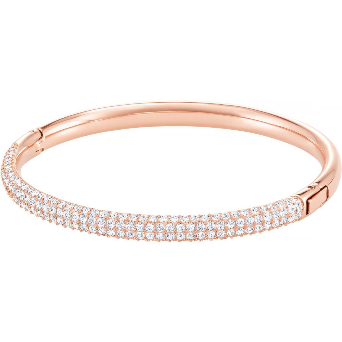 Bracelet Jonc Or Rose - Swarovski