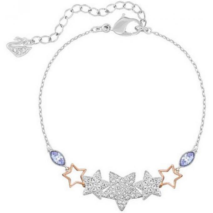 Bracelet Swarovski Duo 5179189 , Bracelet Acier Etoile Femme
