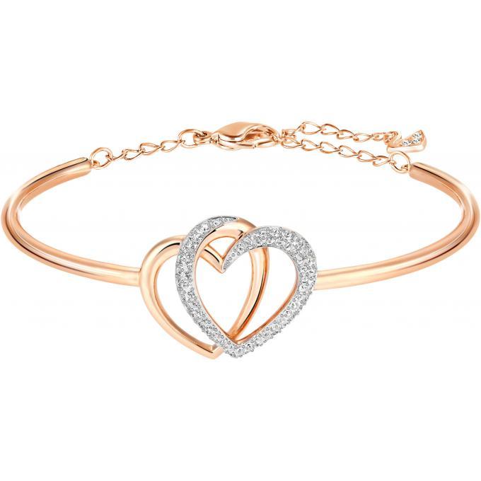 Bracelet Swarovski 5194838 , Bracelet Coeur Bicolore Femme