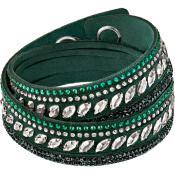 Bracelet Swarovski Bijoux Tissu Vert 5225968