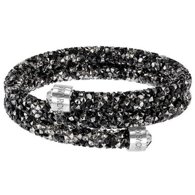 Bracelet Swarovski Crystaldust 5237757 , Bracelet Noir Cristal Femme