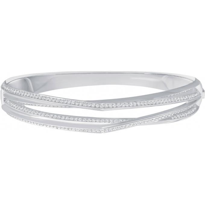 Bracelet Swarovski Bijoux 5269567 , Bracelet Trilogie Jonc Argent Femme